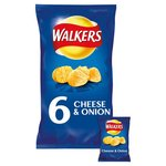 Clearance Line Walkers Cheese and Onion Crisps 6 Pack