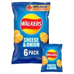 clearance Line Walkers Cheese and Onion Crisps 6 Pack ***EXPIRY 22/05/2021***