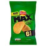 Clearance Line Walkers Max Salt and Vinegar Crisps 6 x 27g