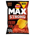 Clearance Line Walkers Max Strong Fiery Peri Peri Crisps 150g