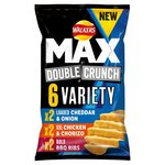Clearance Line Walkers Max Variety Pack 6 x 27g **OUTER PACKAGING TORN PRODUCTS FINE**