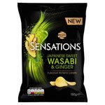 Clearance Line Walkers Sensations Wasabi and Ginger Crisps 150g