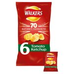 Clearance Line Walkers Tomato Ketchup Crisps 6 Pack