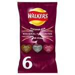 Clearance Line Walkers Variety Crisps Beef Marmite Bacon 6 Pack Limited Edition