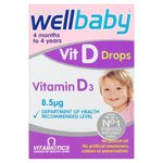 Clearance Line Wellbaby Vitamin D Drops 30ml