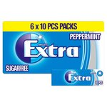 Clearance Line Wrigleys Extra Chewing Gum Peppermint 6 pack