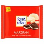Clearance Ritter Sport Plain Chocolate with Marzipan Filling 100g