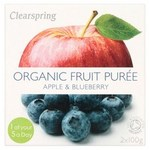 Clearspring Organic Apple and Blueberry Puree 2 X 100g
