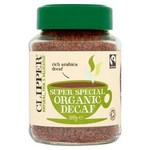 Clipper Fairtrade Organic Instant Decaffeinated Arabica Coffee 100g.