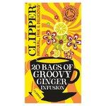 Clipper Groovy Ginger Hemp Lemongrass and Ginger Organic Infusion 20 per pack