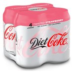 Coca Cola Diet Twisted Strawberry 4 x 330ml Cans