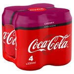 Coca Cola Zero Sugar Cherry 4 x 330ml Cans