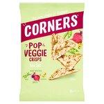 Corners Pop Veggie Crisps Chickpea Beetroot and Pea Sea Salt 85g