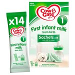 Cow and Gate First Infant Milk Stage 1 Formula Sachets 14 x 32g