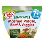 Cow And Gate Little Bowl 7 Months Mashed Potato Beef and Veggies Meal 200g