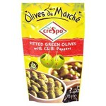 Crespo Green Olives with Chilli Pepper 70g