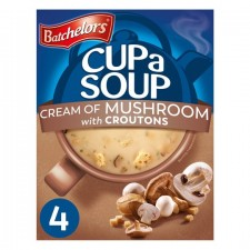 Batchelors Cup A Soup with Croutons Cream of Mushroom Granules 4 sachets