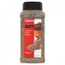 Chefs Larder Cracked Black Pepper 500g