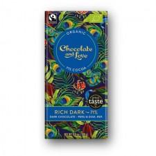 Chocolate and Love Organic 71% Rich Dark Chocolate 80g