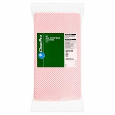 Clean Pro All Purpose Cloths 50 Pack Pink
