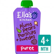 Ellas Kitchen Organic Plums Pears Parsnip and Swede120g 4 Months