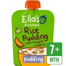 Ellas Kitchen Organic Rice Pudding with Mangoes and Apples80g 7 Months