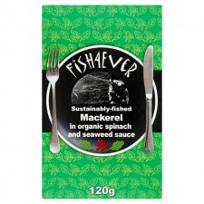 Fish 4 Ever Mackerel in Organic Spinach and Seaweed Sauce 120g