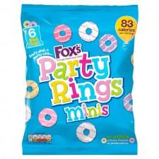 Foxs Mini Party Rings Mini Bags x6