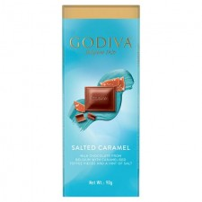 Godiva Pure Belgian Milk Chocolate Salted Caramel 90g