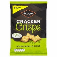 Jacobs Cracker Crisps Sour Cream And Chive 150g