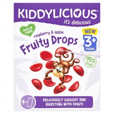 Kiddylicious Fruity Drops Raspberry and Apple 4 x 16g