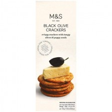 Marks and Spencer Black Olive Crackers 150g