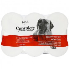 Marks and Spencer Complete Hearty Meat Selection For Dogs 6 x 400g