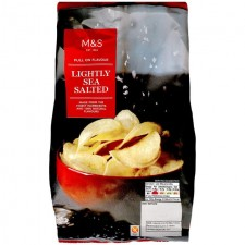 Marks and Spencer Full On Flavour Lightly Sea Salted Crisps 150g