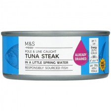 Marks and Spencer Tuna Steak in a Little Spring Water 120g