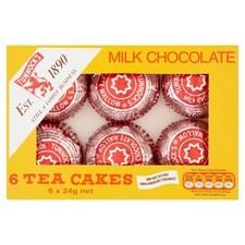 Retail Pack Tunnocks Chocolate TeaCakes 12 x 6s