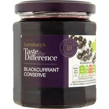 Sainsburys Taste the Difference Blackcurrant Conserve 340g