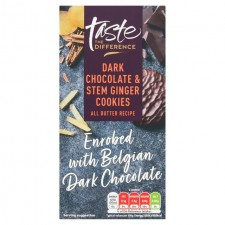 Sainsburys Taste The Difference Dark Chocolate and Stem Ginger Cookies 200g