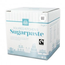 Squires Kitchen White Fairtrade Sugarpaste Ready to Roll Icing 1kg