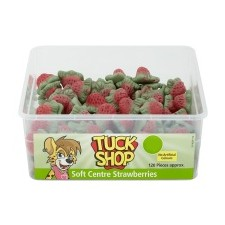 Tuck Shop Soft Centre Strawberries 120 Pack
