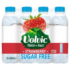 Volvic Touch Of Fruit Sugar Free Strawberry 12 x 500ml