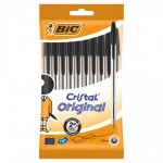 Bic Crystal Ball Pens Black 10 Pack