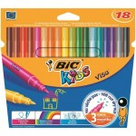 Bic Kids Washable Felt Tip Pens Assorted Colours 18 per pack