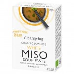 Clearspring Organic White Miso Soup Paste with Sea Vegetables 4 x 15g
