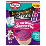 Dr Oetker Spectacular Science Crazy Colour Changing Icing Cupcake Kit 295g