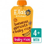 Ellas Kitchen Organic Bananas Apricots and Baby Rice 120g 4 Months