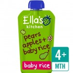 Ellas Kitchen Organic Pear and Apple Baby Rice120g 4 Month