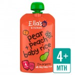 Ellas Kitchen Organic Pear and Peach Baby Rice 120g 4 Months