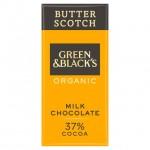 Green and Blacks 37% Milk Chocolate Butterscotch 90g