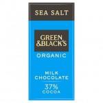 Green And Blacks 37% Milk Chocolate With Sea Salt 90g